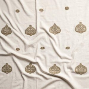 Assam Eri Silk-Cotton Circular Storage Ottoman-d