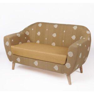 Assam Muga Silk-Cotton 2-Seater Loveseat a