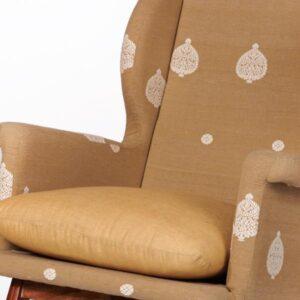 Assam Muga Silk-Cotton Rocking Chair-a