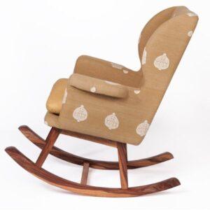 Assam Muga Silk-Cotton Rocking Chair-b