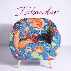 Blue-Orange Kashmiri Accent Chair
