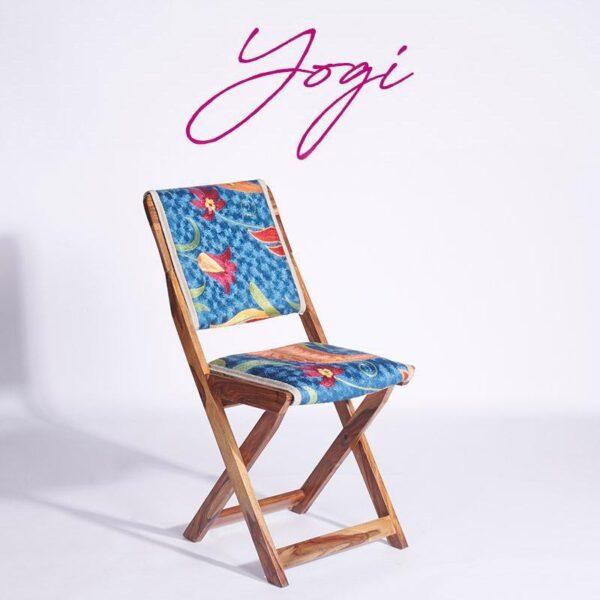 Blue-Orange Kashmiri Folding Chair