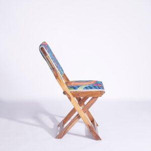 Blue-Orange Kashmiri Folding Chair – Set of 2 c