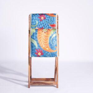 Blue-Orange Kashmiri Folding Chair – Set of 2 d