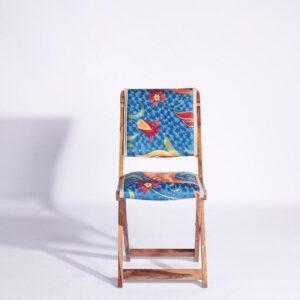 Blue-Orange Kashmiri Folding Chair a