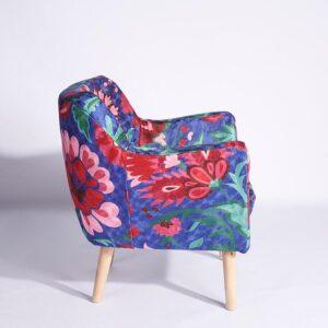 Blue-Pink Kashmiri Armchair b