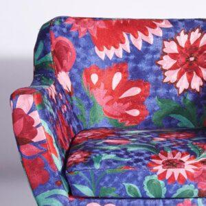 Blue-Pink Kashmiri Armchair c