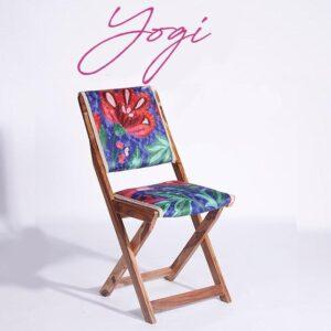 Blue-Pink Kashmiri Folding Chair