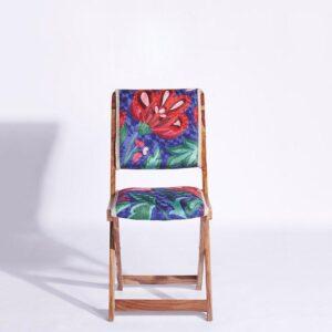 Blue-Pink Kashmiri Folding Chair a
