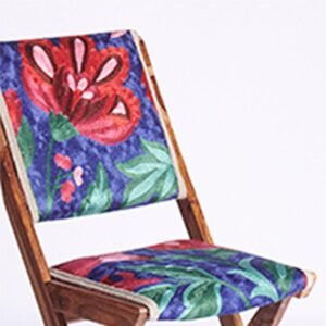 Blue-Pink Kashmiri Folding Chair b