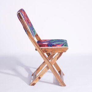 Blue-Pink Kashmiri Folding Chair c