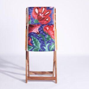 Blue-Pink Kashmiri Folding Chair d