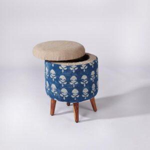 Circular Storage Ottoman-a