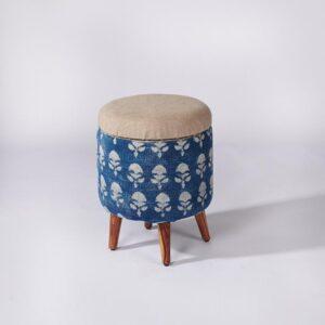 Circular Storage Ottoman-c