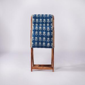 Floral Patterned Dhurrie Folding Chair-d