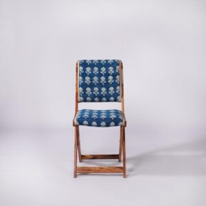 Floral Patterned Dhurrie Folding Chair-e