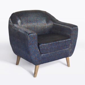 Floral Star-Patterned Ajrakh Accent Chair-a
