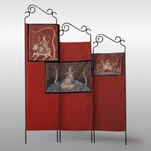 Jannat – Double-Sided Folding Fabric Screen, Room Divider in Mata ni Pachedi and Ajrakh a