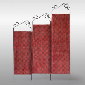 Jannat – Double-Sided Folding Fabric Screen, Room Divider in Mata ni Pachedi and Ajrakh b