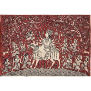 Jannat – Double-Sided Folding Fabric Screen, Room Divider in Mata ni Pachedi and Ajrakh c