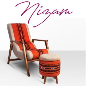 Naga Shawl Lounge Chair with Detachable Surface and Knob