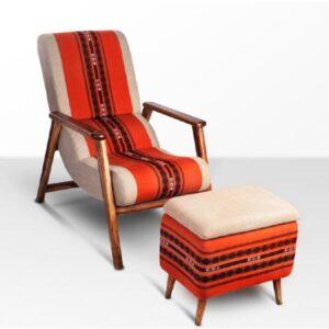 Naga Shawl Lounge Chair with Detachable Surface and Knob-a