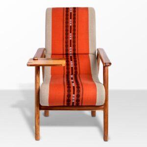 Naga Shawl Lounge Chair with Detachable Surface and Knob-b