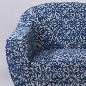 Ornate Patterned Dhurrie Accent Chair-c