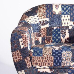 Red-Blue Banni Patchwork Accent Chair-b