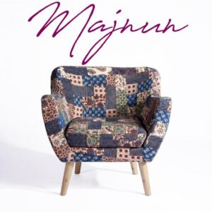 Red-Blue-Green Banni Patchwork Armchair