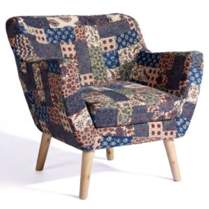 Red-Blue-Green Banni Patchwork Armchair-a