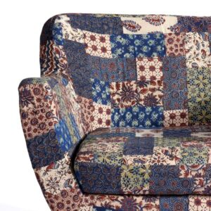 Red-Blue-Green Banni Patchwork Armchair-b