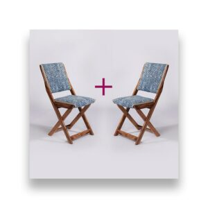 Spiral Patterned Dhurrie Folding Chair – Set of 2