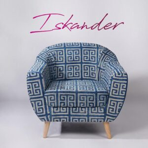 maze-patterned-dhurrie-accent-chair