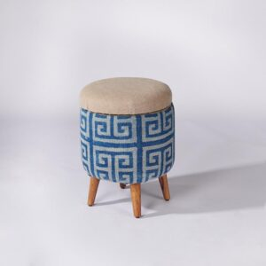 maze-patterned-dhurrie-circular-storage-ottoman-c