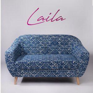 ornate Patterned Dhurrie 2-Seater Loveseat