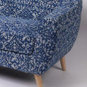 ornate Patterned Dhurrie 2-Seater Loveseat-b