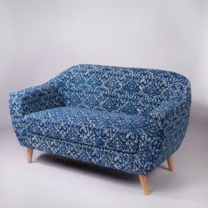 ornate Patterned Dhurrie 2-Seater Loveseat-d