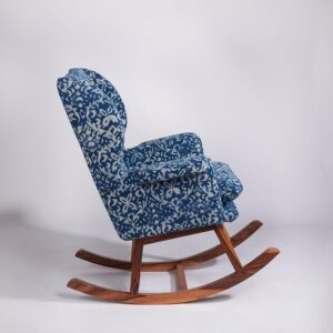 ornate Patterned Dhurrie Rocking Chair-d