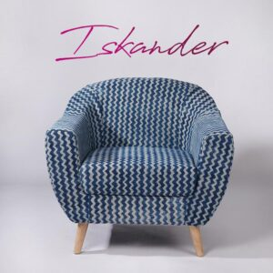 zigzag-patterned-dhurrie-accent-chair
